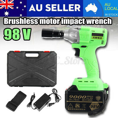 Torque 520Nm Cordless Motor Electric Brushless Impact Wrench Battery Rattle Gun