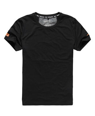 New Mens Superdry Gym Basic Sport Runner T-shirt Black