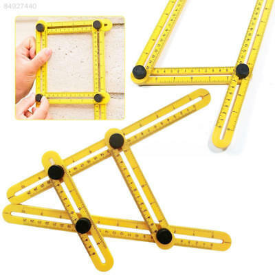 5E25 Hand Tools Four-Sided Folding Measuring Multi Angle Template Scale Ruler