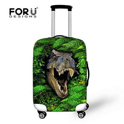 Green Animal Elastic Dust-proof Luggage Cover Suit Case Covers Protector 18-28""