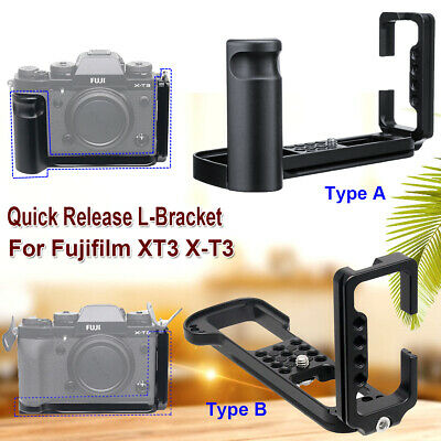 Quick Release Plate L Bracket Camera Mount Grip for Fujifilm X-T3 XT3 Fuji
