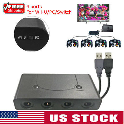 4-Port GC Gamecube Controller to USB Adapter Converter  For Switch Wii- U PC NGC