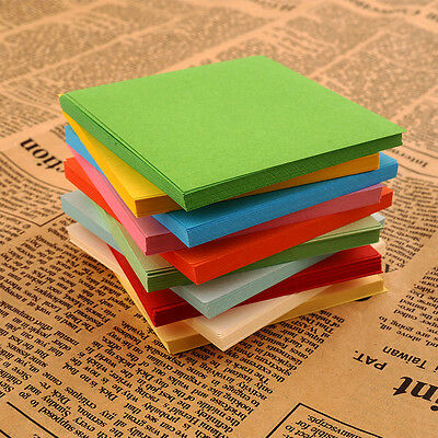 100 Pcs Colorful Square Hand Paper Craft DIY Scrapbooking Origami Handmade Paper