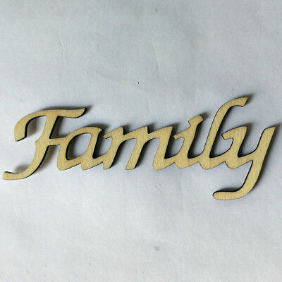 Wood Family English Letter Wall Decal Sticker Stencil Shabby Chic Home Decor
