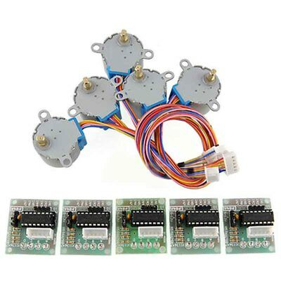 5pcs DC 5V Stepper Motor 28BYJ-48 + ULN2003 Driver Test Module Board for Arduino