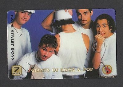 The Backstreet Boys Pop Rock Music 1999 Collector Phone Card