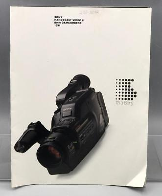 Vintage Sony Handycam Video 8 Camcorder Camera Brochure Booklet
