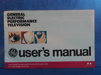 Vintage General Electric Performance Television Manual Instructions dq