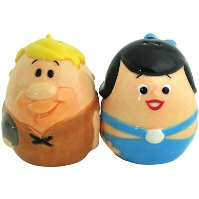 The Flintstones Barney & Betty Egg Ceramic Magnetic Salt & Pepper Shaker Set
