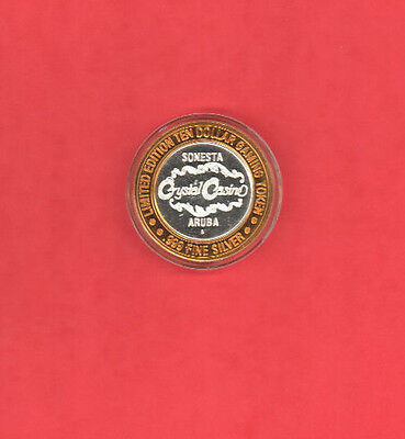 Crystal Casino, Sonesta Aruba, $10 Casino Chip