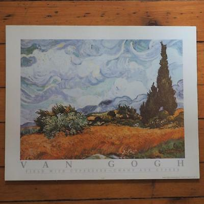 Wheat Field with Cypresses Poster Print by Vincent Van Gogh (16 x 20)