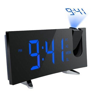 5-inch Large LCD Backlit Clock Projector Projection Snooze Alarm Clock FM Radio