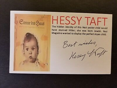 HESSY TAFT NAZI POSTER CHILD Autographed 3x5 Index Card