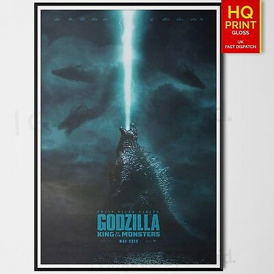 Godzilla King Of The Monsters New Poster Print Movie Art Size | A4 A3 A2 A1 |