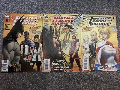 Justice League Of America 8 9 10 Michael Turner Covers. Brad Meltzer Power Girl