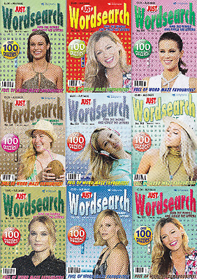Wordsearch Puzzle Books X 9 - 900+ Puzzles, Just Wordsearch Magazines X 9
