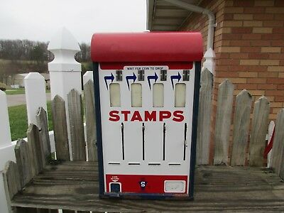 Rare Dome Top Vintage Stamp/postage Machine/post Office/porcelain Sign/signs
