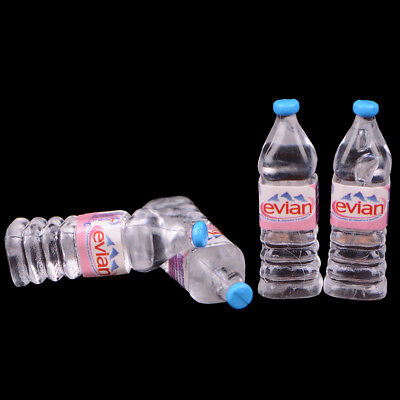 1:12 4Pcs dollhouse water bottle miniature toy doll food kitchen parts UK