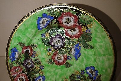 Maling Anemone Gilded & lustred Plaque - 1930's