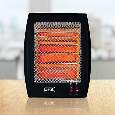 Halogen Quartz Instant Heater Small Portable Electric Free Standing Home Office
