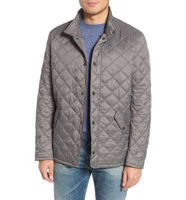 New BARBOUR Men's Barn/Hunting/Car Coat Flyweight Chelsea Quilted Jacket Gray
