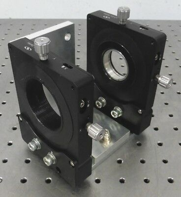 C155980 Lot 2 Newport LP-2A Series 2-Axis Laser Optical Mirror / Filter Mounts