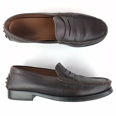 0228d655a74 Tod's Penny Loafers Driving Shoes Women's Size 9.5 Leather Brown Italy