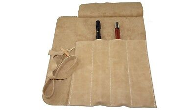Leather Case for 4 tin whistles, irish whistle organiser storage hand crafted UK