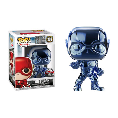 DC comics - Justice League Movie - Flash Light Blue Chrome Pop! Vinyl Figures -