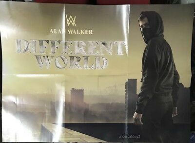 "Alan Walker Different World 2018 Taiwan Promo ""Folded"" Poster"