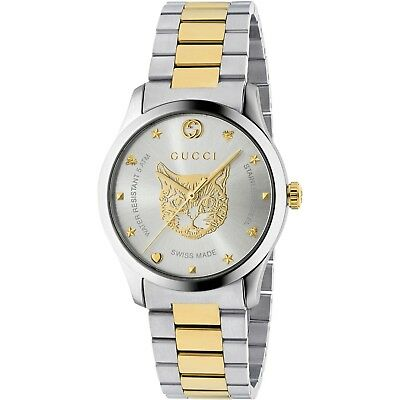 3d743037ff1 Gucci G-Timeless Silver Two-Tone Stainless Steel 38mm Unisex Watch YA1264074