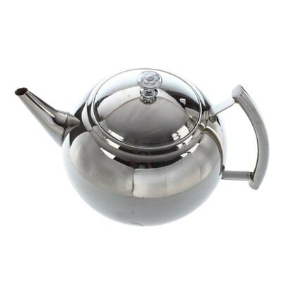 1X(2000ML Stainless Steel Teapot Tea Pot Coffee With Tea Leaf Filter Infuse O4C7