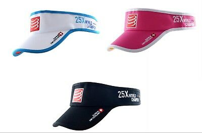 Compressport Triathlon Running Tennis Visor Cap 25 x World Champion