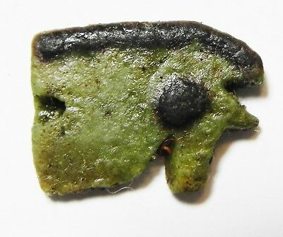 ZURQIEH -as10198- ANCIENT EGYPT. FAIENCE EYE OF HORUS AMULET. 600 - 300 B.C
