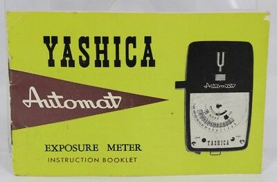 """Vintage YASHICA """"AUTOMAT"""" Exposure Meter INSTRUCTION Booklet only, 20 pages"""