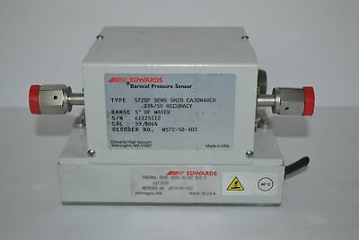 "Edwards Datametrics Barocel Pressure Sensor 572df 5"" water & 525A Thermal Base"