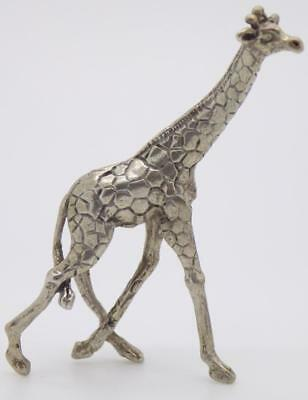 Vintage Solid Silver Italian Made Giraffe Figurine, Miniature, Stamped