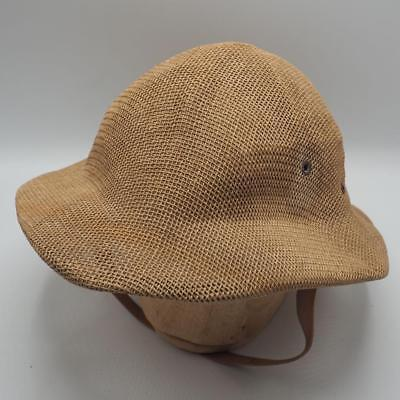 f194d4e678395 Vintage Sun Fari Straw Hat by Wesco MFG. Co. Adjustable Head Band