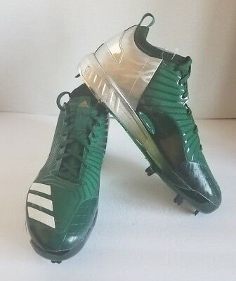 huge discount 35b17 48ab3 adidas Boost Mens Icon 3.0 Metal Baseball Cleats Green Silver Size 13.5  BY3685