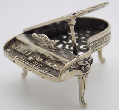 Vintage Solid Silver Italian Made Piano Instrument Miniature, Figurine, Stamped*