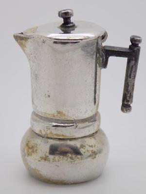 Vintage Solid Silver Italian Made Moka Coffee Machine Miniature Stamped