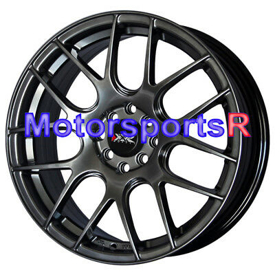 XXR 530 17 17x7 Chromium Black Concave Rims Wheels 4x100 97 02 Honda Civic SI EX