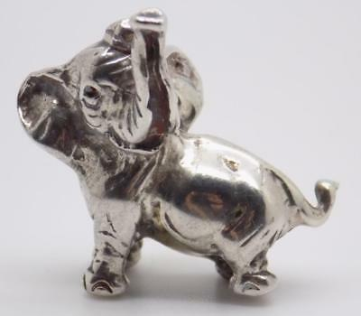 Vintage Sterling Silver 925 Italian Made Elephant Figurine, Miniature, Stamped