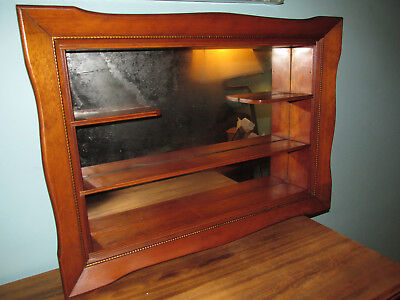 Vintage Illinois Moulding Co 1967 Mid Century WOODEN SHADOW BOX Mirror Wall Hang