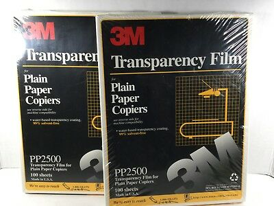"""3M Transparency Film For Copiers PP2500 2 Packs - 200 Total Sheets 8.5"""" X 11"""""""