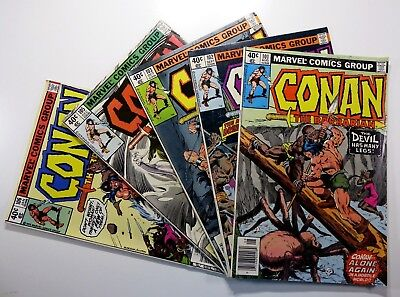 Marvel CONAN THE BARBARIAN (1970) #101 102 103 105 106 Bronze Age LOT Ships FREE