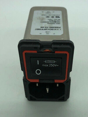 SCHAFFNER  FN9280-10-06 AC Power Entry Modules 10A SNGL STAGE FLTR FLANGE MOUNT