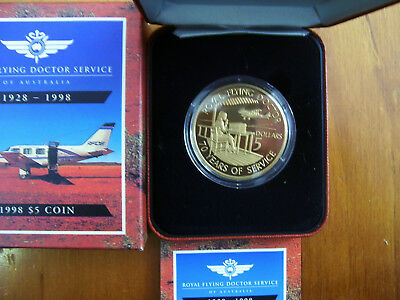 "1998 $5 Proof Coin: ""Royal Flying Doctor Service."""