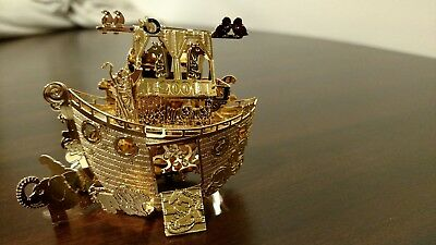 "The Danbury Mint 2001 Gold-plated Christmas Ornament ""Noah's Ark"""