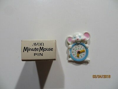 Vintage 1974 Avon Minute Mouse Pin with Box